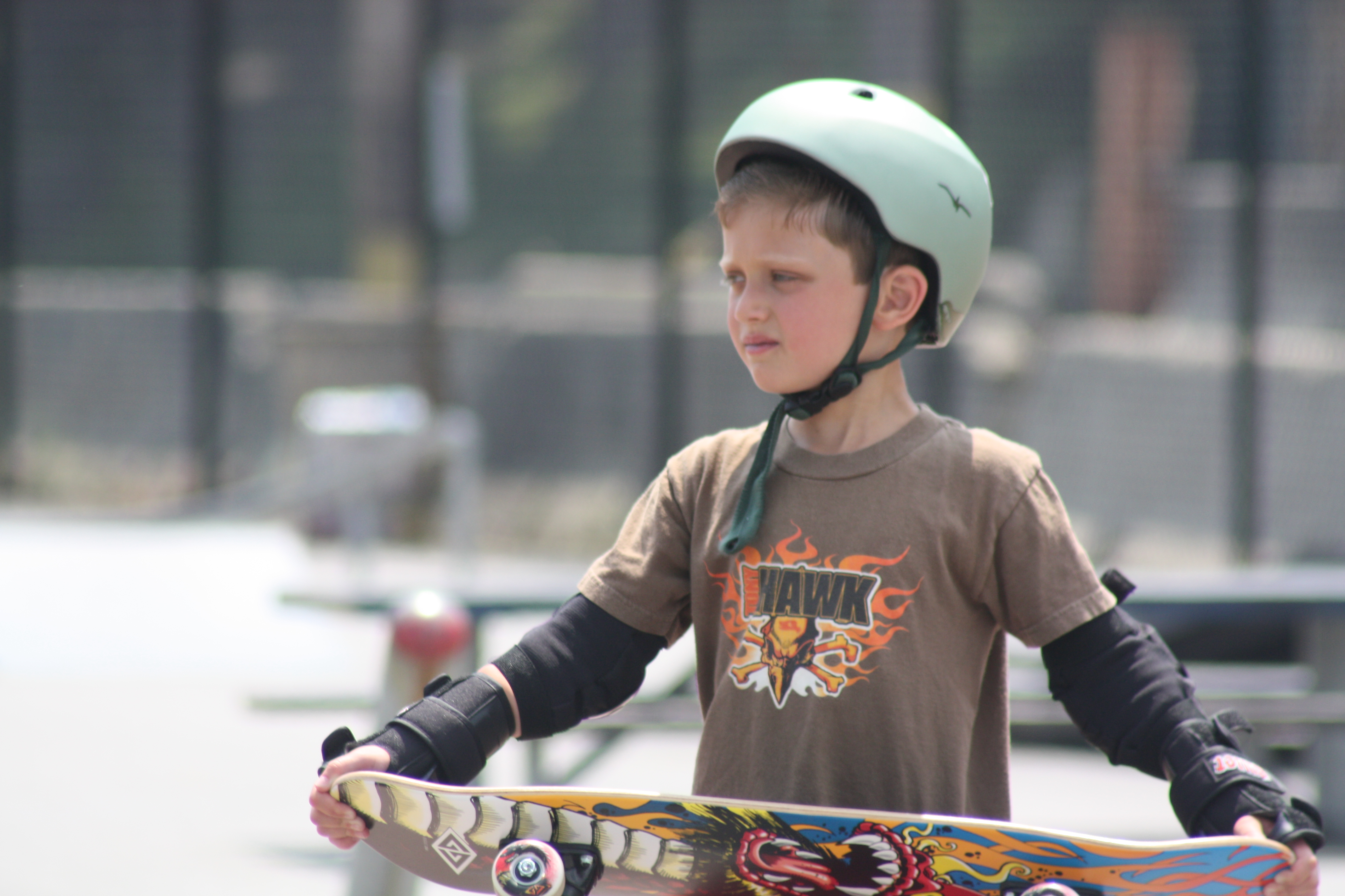 The kid with his Tony Hawk shirt, before he got the crappy game as a present